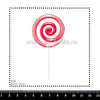 Шаблон для броши Леденец бело-розовый, фетр Корея Премиум, толщина 1,25 мм, размер 10*10 см 063312 - 99 бусин