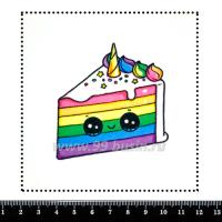 Шаблон для броши Кавайный тортик, фетр Корея Премиум, толщина 1,25 мм, размер 10*10 см 063321 - 99 бусин