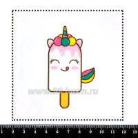 Шаблон для броши Кавайная мороженка, фетр Корея Премиум, толщина 1,25 мм, размер 10*10 см 063322 - 99 бусин