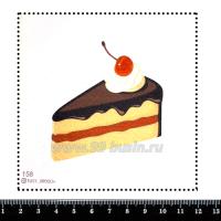 Шаблон для броши Тортик, фетр Корея Премиум, толщина 1,25 мм, размер 10*10 см 063325 - 99 бусин