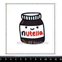 Шаблон для броши Нутелла, фетр Корея Премиум, толщина 1,25 мм, размер 10*10 см 063326 - 99 бусин