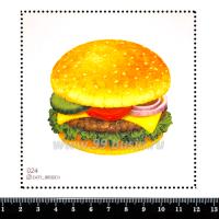 Шаблон для броши Бургер, фетр Корея Премиум, толщина 1,25 мм, размер 10*10 см 063328 - 99 бусин