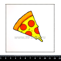 Шаблон для броши Пицца, фетр Корея Премиум, толщина 1,25 мм, размер 10*10 см 063329 - 99 бусин