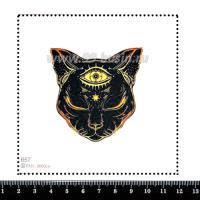 Шаблон для броши Кошка с третьим глазом 657, фетр Корея Премиум, толщина 1,25 мм, размер 10*10 см 063344 - 99 бусин