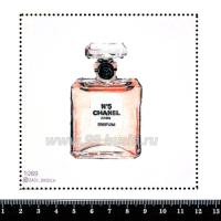 Шаблон для броши Парфюм 1069, фетр Корея Премиум, толщина 1,25 мм, размер 10*10 см 063346 - 99 бусин