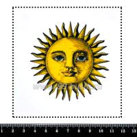 Шаблон для броши Солнце, фетр Корея Премиум, толщина 1,25 мм, размер 10*10 см 063349 - 99 бусин