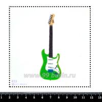 Шаблон для броши Зелёная гитара 633, фетр Корея Премиум, толщина 1,25 мм, размер 10*10 см 063352 - 99 бусин
