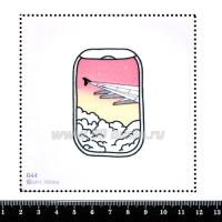Шаблон для броши Вид из иллюминатора 644, фетр Корея Премиум, толщина 1,25 мм, размер 10*10 см 063353 - 99 бусин