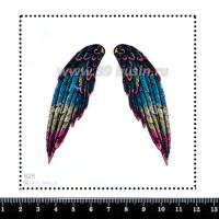 Шаблон для броши Крылья голубой/серый/пурпурный 828, фетр Корея Премиум, толщина 1,25 мм, размер 10*10 см 063354 - 99 бусин