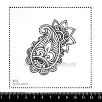 Шаблон для броши Орнамент Мехенди 036, фетр Корея Премиум, толщина 1,25 мм, размер 10*10 см 063356 - 99 бусин
