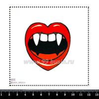 Шаблон для броши Вампирские губки 468, фетр Корея Премиум, толщина 1,25 мм, размер 10*10 см 063358 - 99 бусин