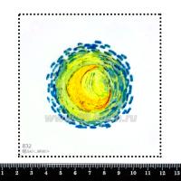 Шаблон для броши Фрагмент картины Винсента Ван Гога 832, фетр Корея Премиум, толщина 1,25 мм, размер 10*10 см 063362 - 99 бусин