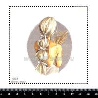 Шаблон для броши Девушка с колосьями пшеницы 1078, фетр Корея Премиум, толщина 1,25 мм, размер 10*10 см 063370 - 99 бусин