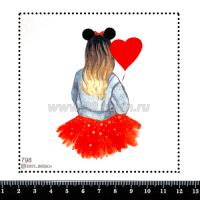 Шаблон для броши Девушка Микки 798, фетр Корея Премиум, толщина 1,25 мм, размер 10*10 см 063371 - 99 бусин