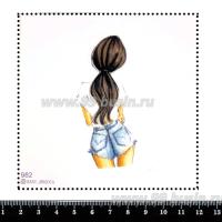 Шаблон для броши Девушка с хвостиком, фетр Корея Премиум, толщина 1,25 мм, размер 10*10 см 063373 - 99 бусин