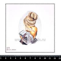 Шаблон для броши Девушка открывает подарок, фетр Корея Премиум, толщина 1,25 мм, размер 10*10 см 063374 - 99 бусин