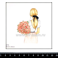 Шаблон для броши Романтичная девушка 970, фетр Корея Премиум, толщина 1,25 мм, размер 10*10 см 063381 - 99 бусин