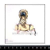 Шаблон для броши Девушка в топе с бантиками 972, фетр Корея Премиум, толщина 1,25 мм, размер 10*10 см 063394 - 99 бусин