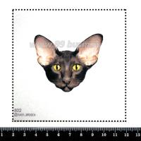 Шаблон для броши Мордочка ориентальной кошки 802, фетр Корея Премиум, толщина 1,25 мм, размер 10*10 см 063404 - 99 бусин