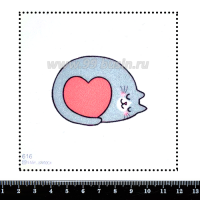 Шаблон для броши Клубочек с сердечком 616, фетр Корея Премиум, толщина 1,25 мм, размер 10*10 см 063405 - 99 бусин