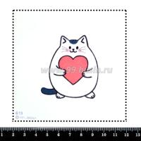 Шаблон для броши Котик с сердечком 616, фетр Корея Премиум, толщина 1,25 мм, размер 10*10 см 063406 - 99 бусин