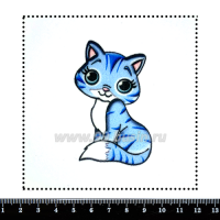 Шаблон для броши Котик мультяшный, фетр Корея Премиум, толщина 1,25 мм, размер 10*10 см 063407 - 99 бусин