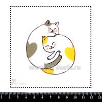 Шаблон для броши Кошачьи объятия 790, фетр Корея Премиум, толщина 1,25 мм, размер 10*10 см 063411 - 99 бусин