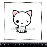 Шаблон для броши Котик подмигивает, фетр Корея Премиум, толщина 1,25 мм, размер 10*10 см 063416 - 99 бусин