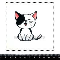 Шаблон для броши Котик чёрно-белый, фетр Корея Премиум, толщина 1,25 мм, размер 10*10 см 063418 - 99 бусин