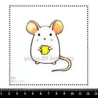 Шаблон для броши Мышка с сыром 940, фетр Корея Премиум, толщина 1,25 мм, размер 10*10 см 063425 - 99 бусин