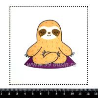 Шаблон для броши Дзен ленивца, фетр Корея Премиум, толщина 1,25 мм, размер 10*10 см 063427 - 99 бусин