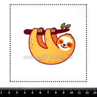 Шаблон для броши Ленивец, фетр Корея Премиум, толщина 1,25 мм, размер 10*10 см 063428 - 99 бусин