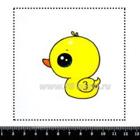 Шаблон для броши Утёнок, фетр Корея Премиум, толщина 1,25 мм, размер 10*10 см 063430 - 99 бусин