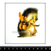 Шаблон для броши Ёжик с желудями, фетр Корея Премиум, толщина 1,25 мм, размер 10*10 см 063431 - 99 бусин