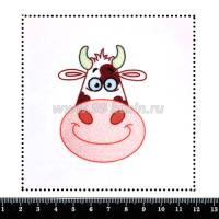 Шаблон для броши Корова, фетр Корея Премиум, толщина 1,25 мм, размер 10*10 см 063439 - 99 бусин
