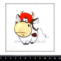 Шаблон для броши Корова в парике, фетр Корея Премиум, толщина 1,25 мм, размер 10*10 см 063440 - 99 бусин