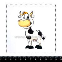 Шаблон для броши Коровка, фетр Корея Премиум, толщина 1,25 мм, размер 10*10 см 063442 - 99 бусин