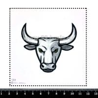 Шаблон для броши Бык серый 184, фетр Корея Премиум, толщина 1,25 мм, размер 10*10 см 063443 - 99 бусин