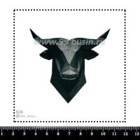 Шаблон для броши Бык графика 626, фетр Корея Премиум, толщина 1,25 мм, размер 10*10 см 063444 - 99 бусин