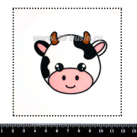 Шаблон для броши Милая коровка, фетр Корея Премиум, толщина 1,25 мм, размер 10*10 см 063445 - 99 бусин