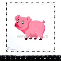 Шаблон для броши Свинка 648, фетр Корея Премиум, толщина 1,25 мм, размер 10*10 см 063447 - 99 бусин