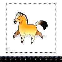 Шаблон для броши Лошадка 907, фетр Корея Премиум, толщина 1,25 мм, размер 10*10 см 063449 - 99 бусин