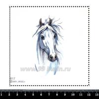 Шаблон для броши Белый конь 817, фетр Корея Премиум, толщина 1,25 мм, размер 10*10 см 063450 - 99 бусин