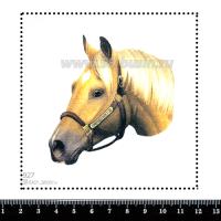 Шаблон для броши Лошадь в уздечке 927, фетр Корея Премиум, толщина 1,25 мм, размер 10*10 см 063452 - 99 бусин