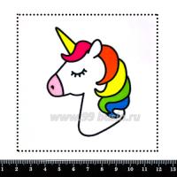 Шаблон для броши Единорог с радужной гривой, фетр Корея Премиум, толщина 1,25 мм, размер 10*10 см 063457 - 99 бусин