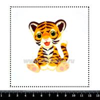Шаблон для броши Тигруля, фетр Корея Премиум, толщина 1,25 мм, размер 10*10 см 063462 - 99 бусин