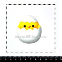 Шаблон для броши Цыплёнок, фетр Корея Премиум, толщина 1,25 мм, размер 10*10 см 063465 - 99 бусин
