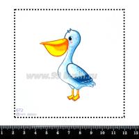 Шаблон для броши Пеликан 672, фетр Корея Премиум, толщина 1,25 мм, размер 10*10 см 063470 - 99 бусин