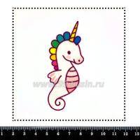 Шаблон для броши Морской конёк-единорог, фетр Корея Премиум, толщина 1,25 мм, размер 10*10 см 063473 - 99 бусин