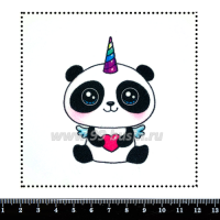 Шаблон для броши Панда-единорог 471, фетр Корея Премиум, толщина 1,25 мм, размер 10*10 см 063475 - 99 бусин